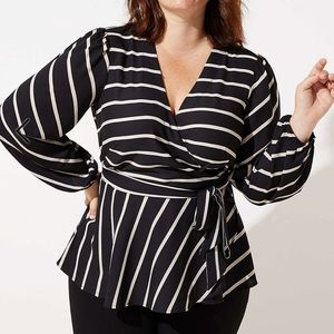 NWT Wrapped front blouse by Loft Plus